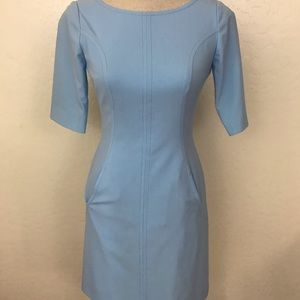 Tahari ASL Sky Blue Fitted Sheath Dress Size 0P